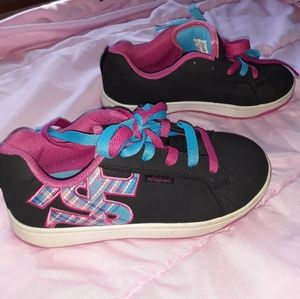 Airspeed tennis shoes (black, pink and teal)